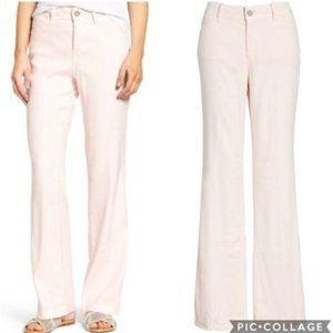 NYDJ Wylie Linen Lift Tuck Trouser Pants Pink 2